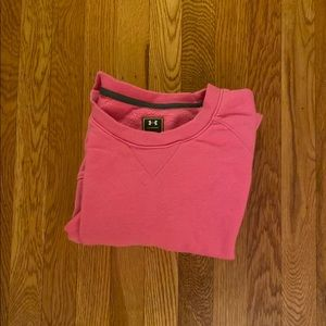 Under armor pink sweat shirt large